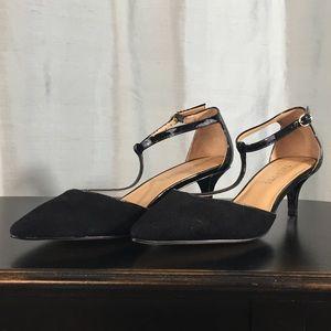 Talbots leather kitten heels